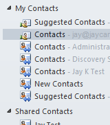Missing Contacts Folder