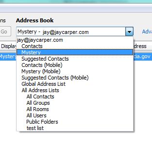 Mystery Address Book