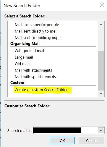 Create a custom search folder.