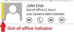 Lync Out-of-Office indicator