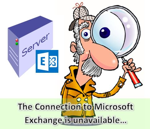 The action cannot be completed. The Connection to Microsoft Exchange is unavailable. Outlook must be online or connected to complete this action.