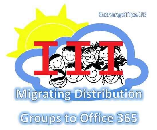 Migrating distribution groups from an on-premise Microsoft Exchange organization to Office 365.
